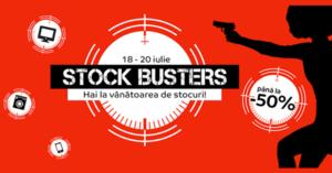 Stock Busters din 18 – 20 iulie 2017 la eMAG – start la reduceri!