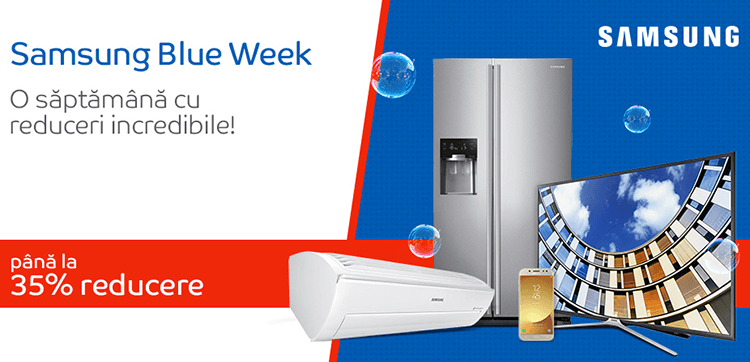 Samsung Blue Week la eMAG
