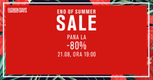 Campanie End of Summer Sale la FashionDays