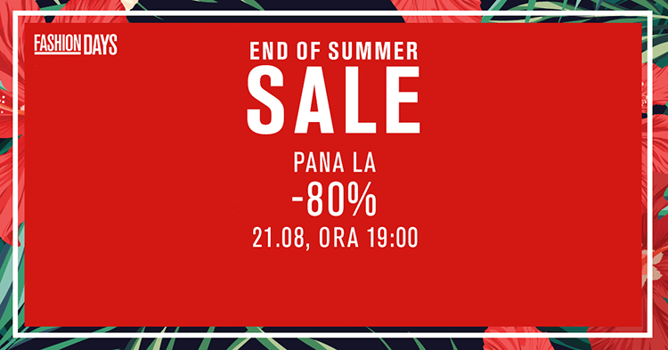 End of Summer Sale la FashionDays