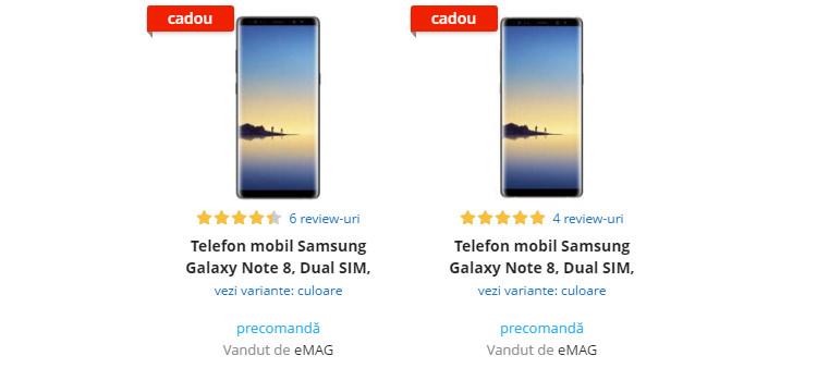 Precomanda Samsung Galaxy Note 8 eMAG