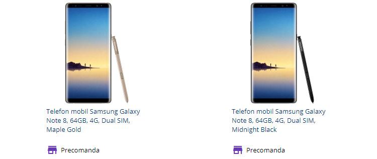 Precomanda Samsung Galaxy Note 8 Flanco