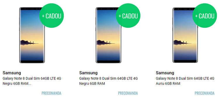 Precomanda Samsung Galaxy Note 8 QuickMobile