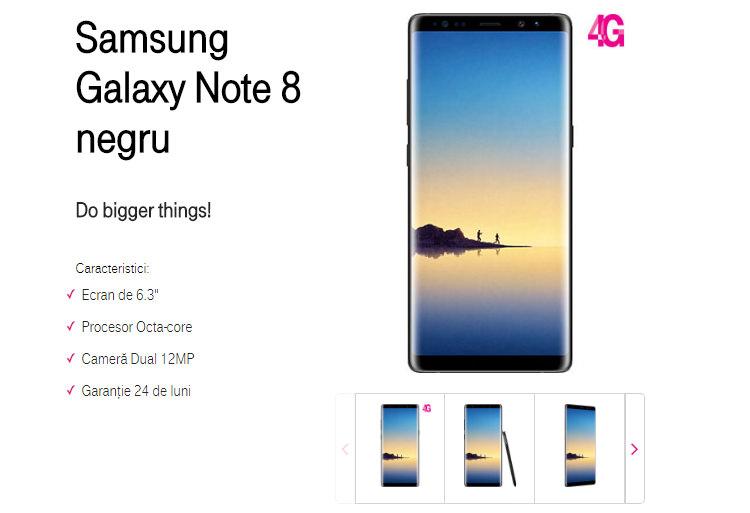Precomanda Samsung Galaxy Note 8 Telekom