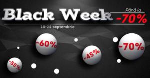 Black Week la evoMAG – reduceri masive intre 18 – 24 septembrie 2017