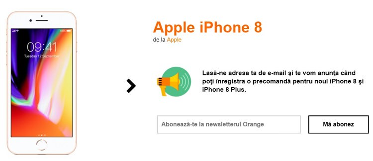 iPhone 8 la Orange