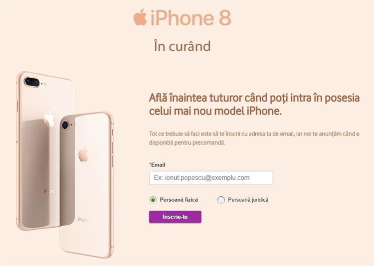 iPhone 8 la Vodafone