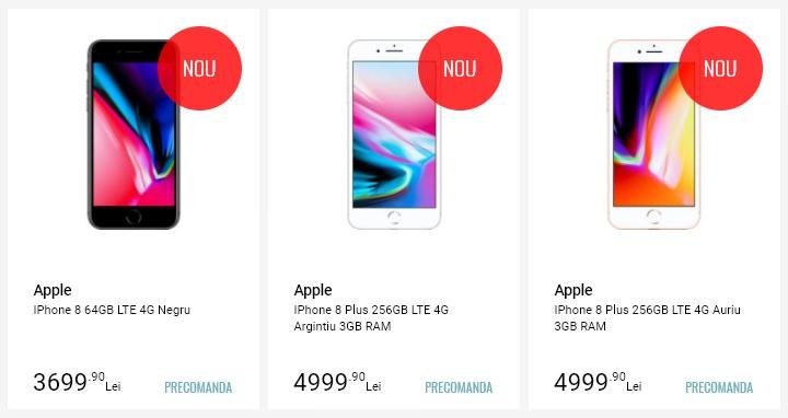 Precomanda iPhone 8 si iPhone 8 Plus la Quick Mobile