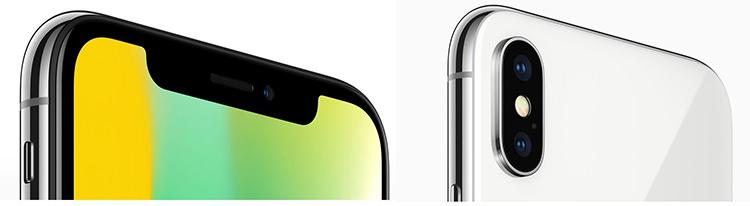 Camere frontale, posterioare iPhone X