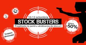 Stock Busters din 10-12 octombrie 2017 la eMAG – reincepe vanatoarea de stocuri!