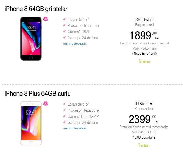 Oferte pentru iPhone 8 iPhone 8 Plus Telekom