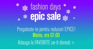 Epic Sale la FashionDays din ianuarie 2018 – sa inceapa reducerile epice!