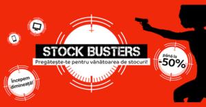 Stock Busters din 20 – 22 februarie 2018 la eMAG – incepe vanatoarea de preturi mici!