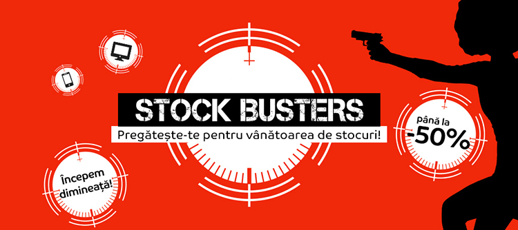 Stock Busters din 20 - 22 februarie 2018 la eMAG