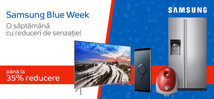 Samsung Blue Week din 26 martie - 1 aprilie la eMAG