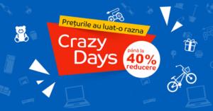 Campanie Crazy Days din 24 aprilie - 2 mai la eMAG