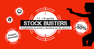 """Stock Busters din 17 – 19 aprilie la eMAG – trei zile de """"vanat"""" preturi mici"""