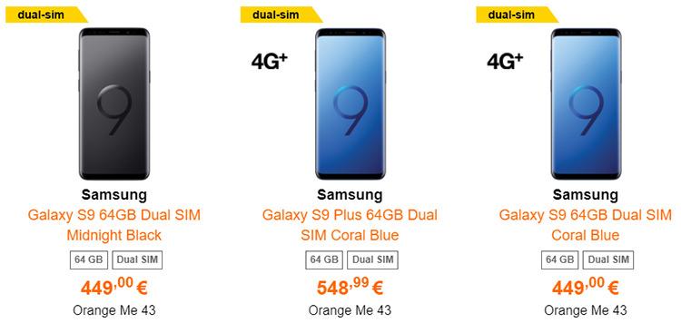 Comanda Samsung Galaxy S9 si S9 Plus Orange