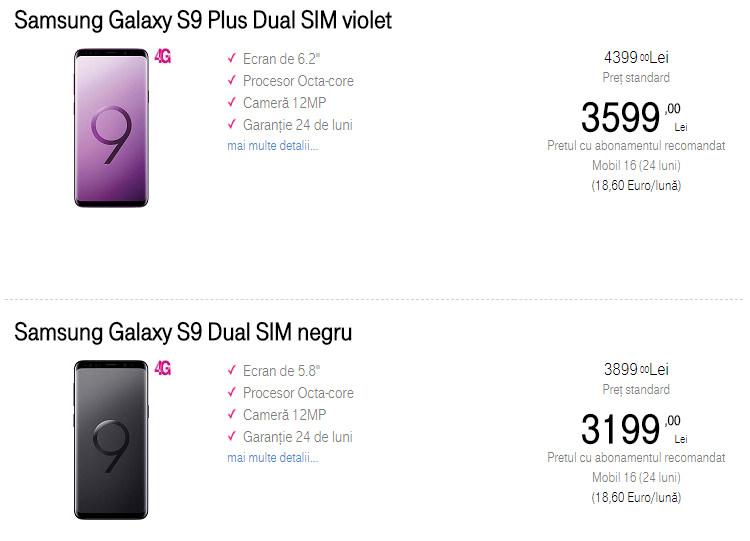 Comanda Samsung Galaxy S9 si S9 Plus Telekom