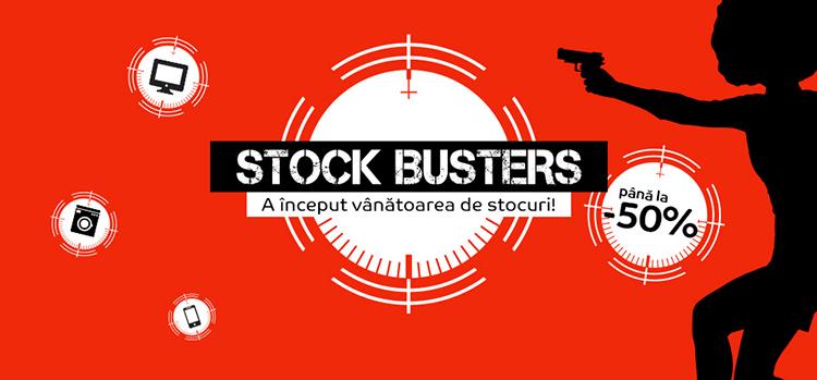 Stock Busters din 17 - 20 iulie la eMAG