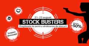 Stock Busters din 21 – 23 august la eMAG ne cheama la vanatoarea de stocuri!