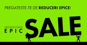 Epic Sale la FashionDays din octombrie 2018 – 10 zile de reduceri epice!
