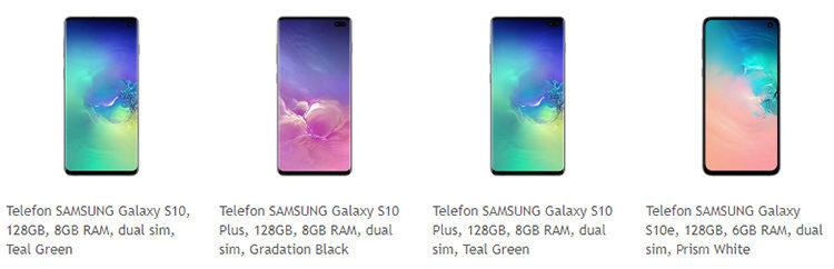 Samsung Galaxy S10, S10e și S10 Plus Altex