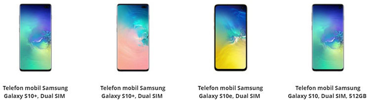 Samsung Galaxy S10, S10e și S10 Plus eMAG