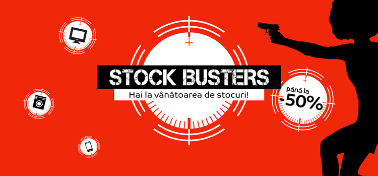 Stock Busters din 19 - 21 martie 2019 la eMAG