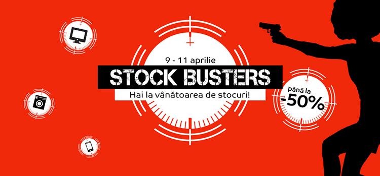 Stock Busters din 9 - 11 aprilie 2019 la eMAG