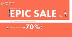 Campanie Epic Sale la FashionDays din mai 2019