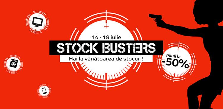Stock Busters din 16 - 18 iulie 2019 la eMAG