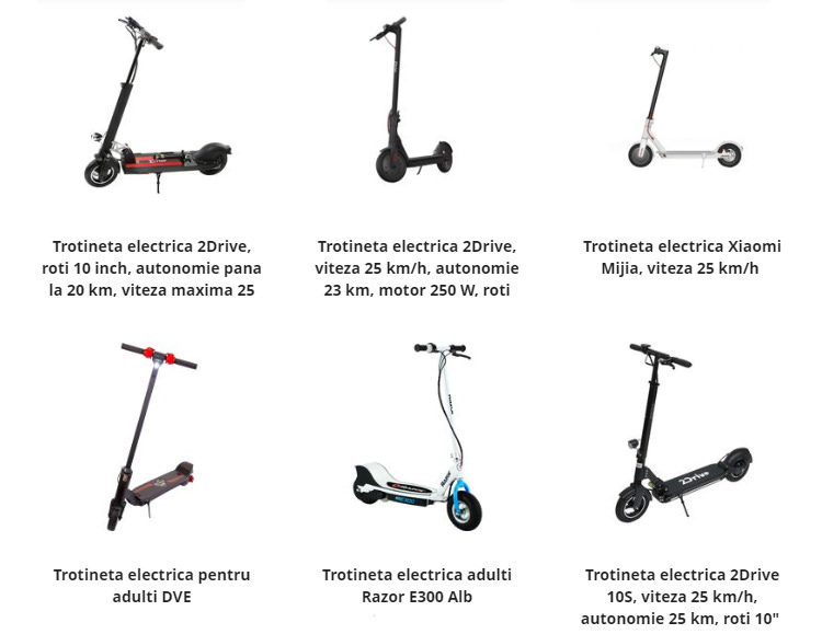 Trotinete electrice eMAG