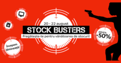 Campanie Stock Busters din 20 - 22 august 2019 la eMAG