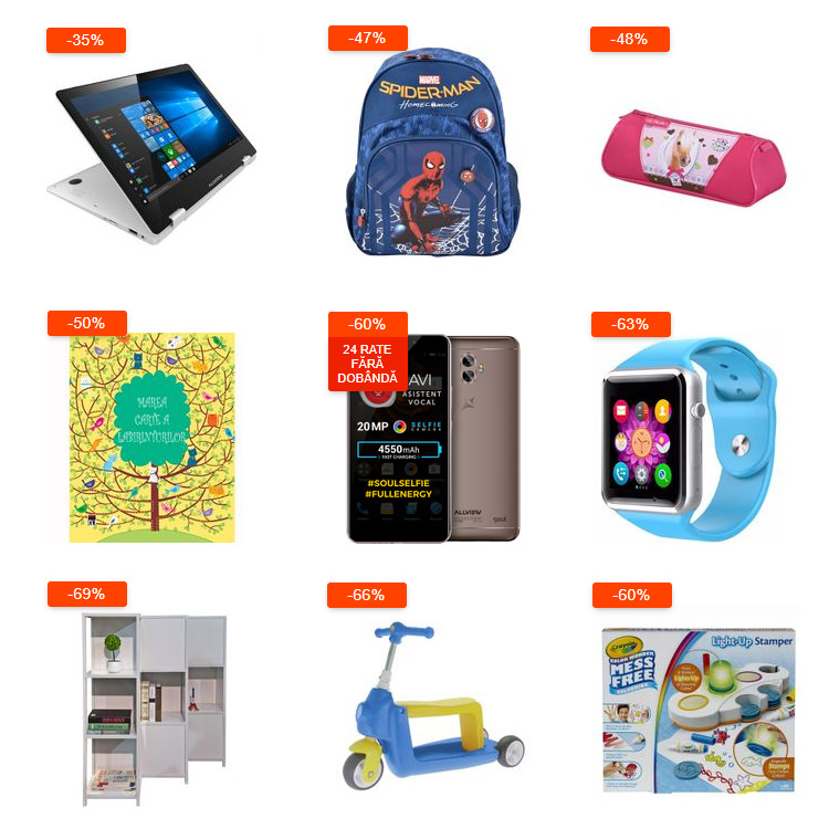 Oferte Back to School 2019 eMAG