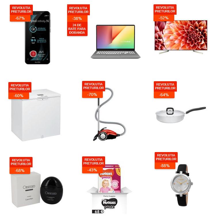 Oferte Revoluția Prețurilor din 17 - 19 septembrie 2019 la eMAG