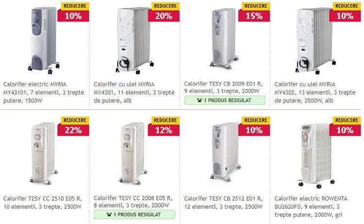 Calorifere electrice ieftine Altex