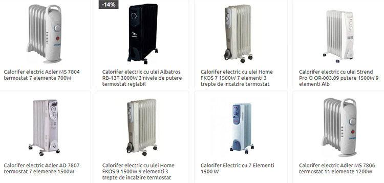 Calorifere electrice ieftine Cel.ro