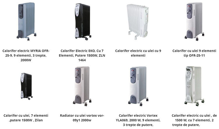 Calorifere electrice ieftine eMAG