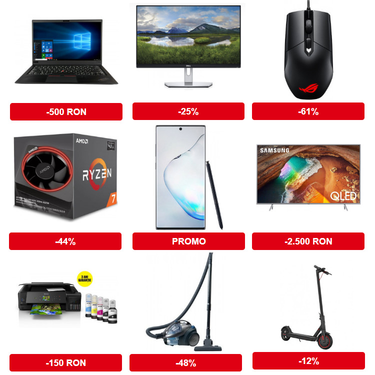 Reduceri Black Friday 2019 la PC Garage