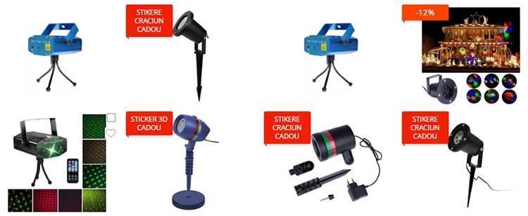 Proiector laser de Crăciun eMAG